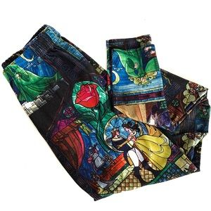 Disney Beauty & The Beast Stained Glass Leggings